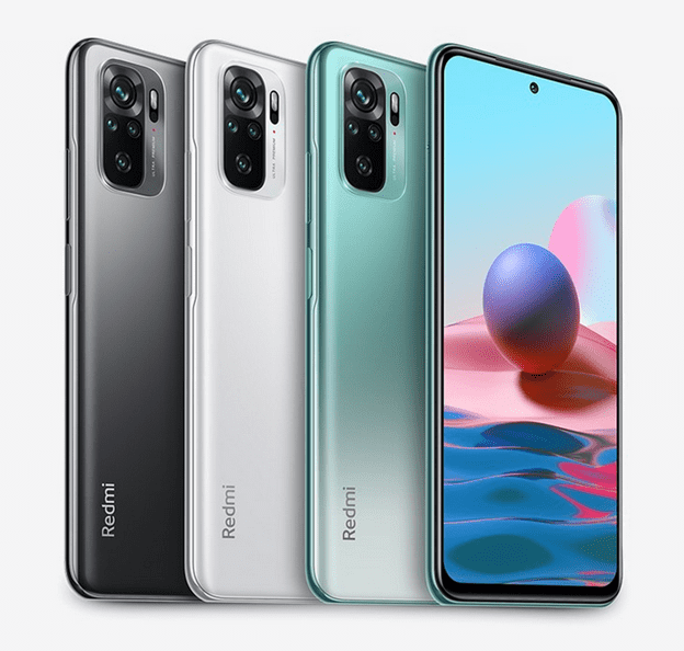 Цвета корпуса телефона Xiaomi Redmi Note 10